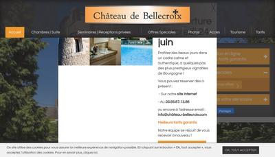 Site internet de Chateau de Bellecroix