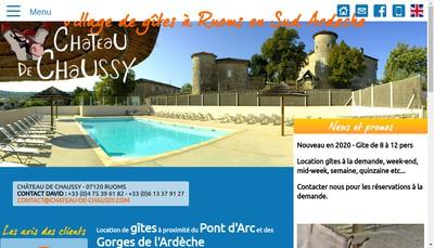 Site internet de Chateau de Chaussy