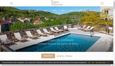 Site internet de SARL Chateau de Creissels