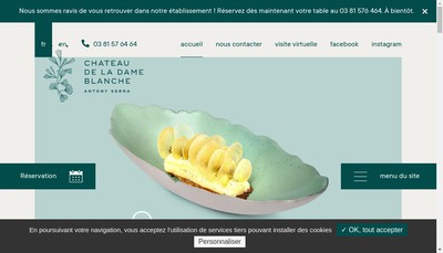 Site internet de Chateau de la Dame Blanche