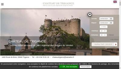 Site internet de Chateau de Trigance