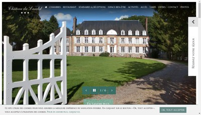 Site internet de Chateau du Landel