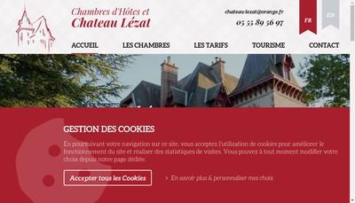 Site internet de Chateau Lezat