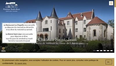 Site internet de Chateau Saint Jean & Spa