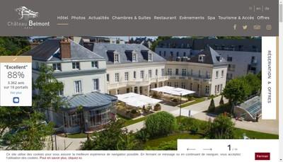 Site internet de Chateau Belmont