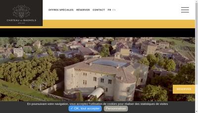 Site internet de Chateau de Bagnols