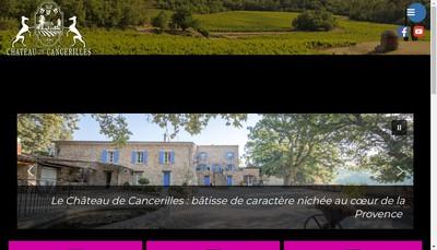 Site internet de La Table du Chateau