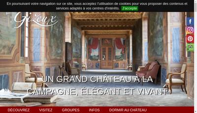 Site internet de Chateau de Gizeux Developpement