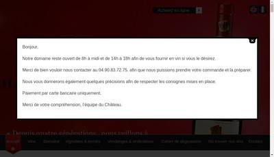 Site internet de SA d'Exploitation Chateau Mont-Redon