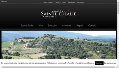 Site internet de Chateau Saint Eulalie
