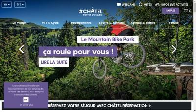 Site internet de Remontees Mecaniques de Chatel