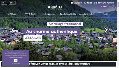 Site internet de Chatel Loisirs