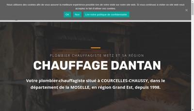 Site internet de Chauffage Dantan