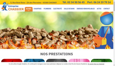 Site internet de Entreprise Chassier