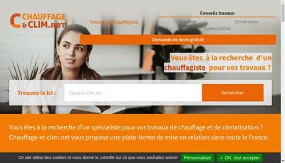 Site internet de Chauffage Kleinbeck