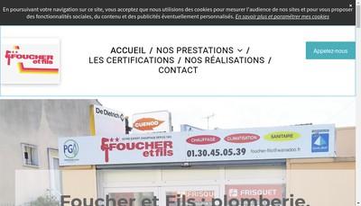 Site internet de Foucher et Fils