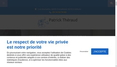 Site internet de Theraud Patrick