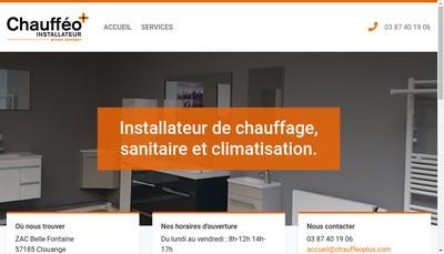 Site internet de Chauffeo Plus