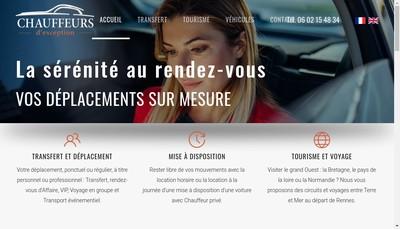 Site internet de Chauffeurs d'Exception