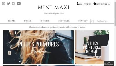 Site internet de Chauss'Mini Maxi