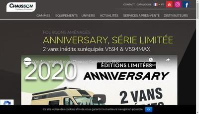 Site internet de Camping Cars Chausson