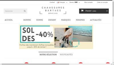 Site internet de Chaussures Barthes