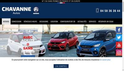 Site internet de Chavanne Autos Sans Permis