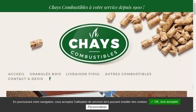 Site internet de SAS Chays Eric