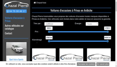 Site internet de Chazal Pierre Automobiles