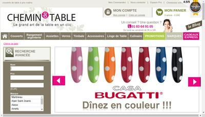Site internet de Chemin de Table