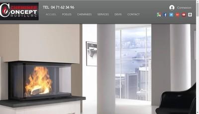 Site internet de Cheminee Concept Manuel Pio