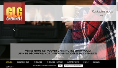 Site internet de Cheminees Glg