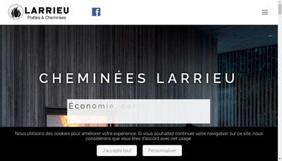 Site internet de Cheminees Larrieu