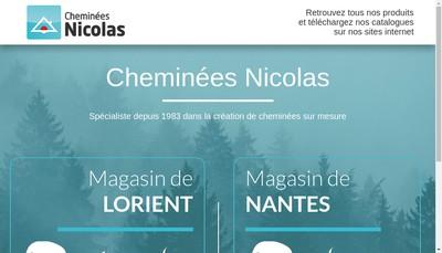 Site internet de Cheminees Nicolas
