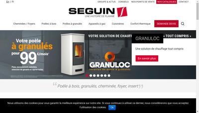 Site internet de Cheminees Seguin Duteriez