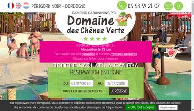 Site internet de Domaine des Chenes Verts