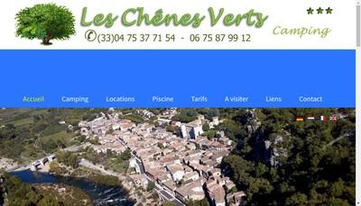 Site internet de Camping les Chenes Verts