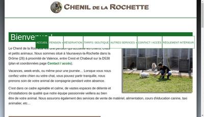 Site internet de Chenil de la Rochette