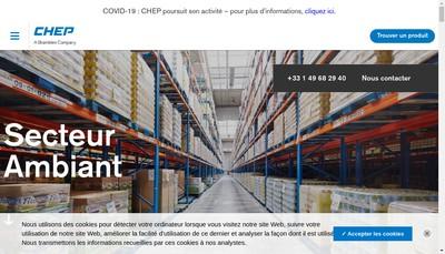 Site internet de Chep France Holding