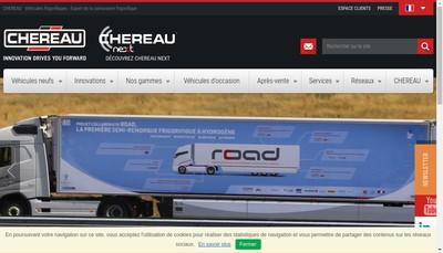 Site internet de Chereau-la Marque Vehicule Frigorifique
