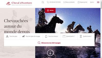 Site internet de Cheval d'Aventure
