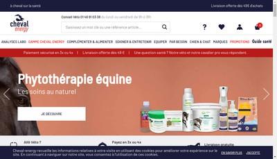 Site internet de Cheval energie - cheval energy