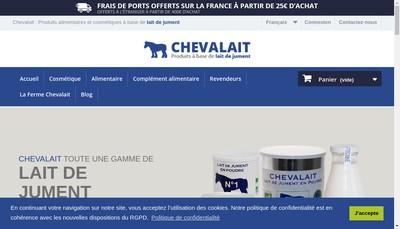 Site internet de SARL Chevalait