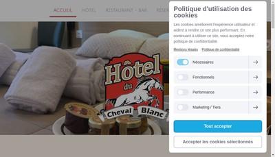 Site internet de Le Cheval Blanc