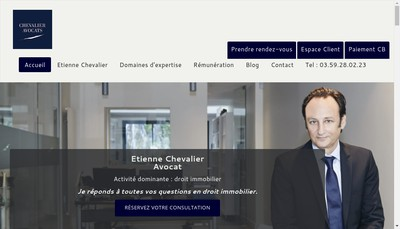 Site internet de Chevalier Avocats