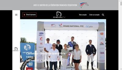 Site internet de Cheval Tv