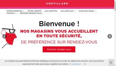 Site internet de Optique Chevillard