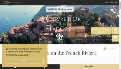Site internet de Hostellerie du Chateau de la Chevre d'Or
