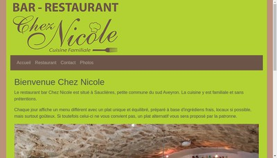 Site internet de Chez Nicole