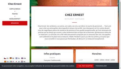 Site internet de Chez Ernest